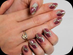 nail-art-hiver-damier
